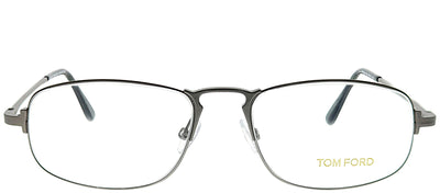 Tom Ford FT 5203 015 Oval Metal Silver Eyeglasses with Demo Lens