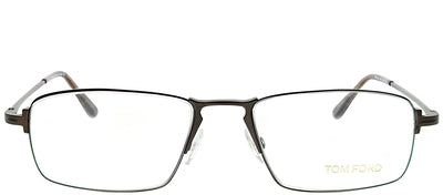 Tom Ford FT 5202 049 Rectangle Metal Brown Eyeglasses with Demo Lens