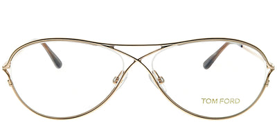 Tom Ford FT 5160 028 Oval Metal Gold Eyeglasses with Demo Lens