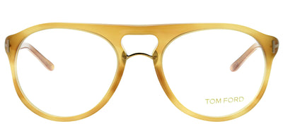 Tom Ford FT 5007 663 Round Plastic Tortoise/ Havana Eyeglasses with Demo Lens