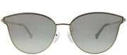 Carolina Herrera SHE 104 300X Cat Eye Metal Gold Sunglasses with Grey Mirror Lens