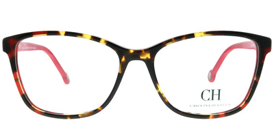 Carolina Herrera VHE 717K 741 Square Plastic Tortoise/ Havana Eyeglasses with Demo Lens