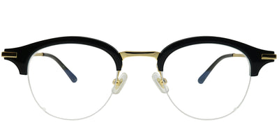 Gentle Monster GMS Boica 01 Round Metal Black Eyeglasses with Demo Lens