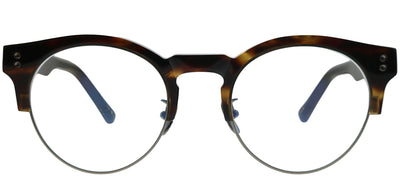 Gentle Monster GMS Tram K2 B4 Round Plastic Tortoise/ Havana Eyeglasses with Demo Lens