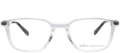 John Varvatos JV V348UF CRY Square Plastic Clear Eyeglasses with Demo Lens