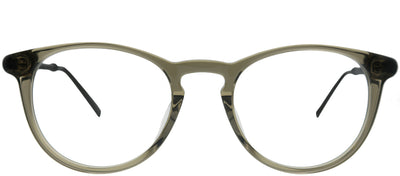 John Varvatos JV V401 SMO Round Plastic Brown Eyeglasses with Demo Lens