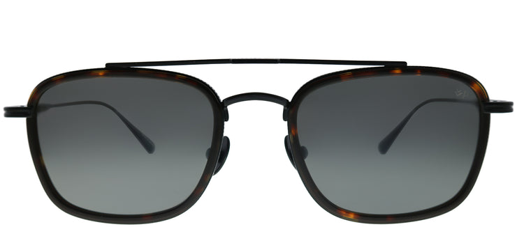 John Varvatos JV V529 TOR Square Metal Tortoise/ Havana Sunglasses with Grey Polarized Lens