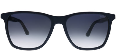 Police SPL 872 D82M Rectangle Plastic Blue Sunglasses with Grey Gradient Lens