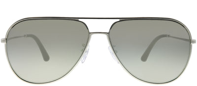 Police SPL 359 589X Aviator Metal Silver Sunglasses with Silver Mirror Lens