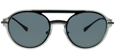 Prada Linea Rossa PS 05TS P2X5Z1 Round Plastic Grey Sunglasses with Grey Polarized Lens