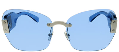Miu Miu MU 08SS VIU2J1 Square Plastic Blue Sunglasses with Blue Lens