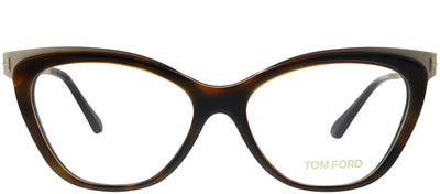 Tom Ford FT 5374 052 Cat-Eye Metal Tortoise/ Havana Eyeglasses with Demo Lens