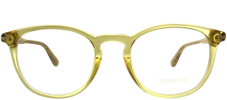 Tom Ford FT 5401 041 Round Plastic Yellow Eyeglasses with Demo Lens