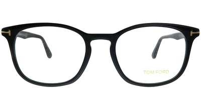 Tom Ford FT 5505 001 Square Plastic Black Eyeglasses with Demo Lens