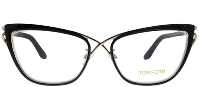 Tom Ford FT 5272 005 Cat-Eye Metal Black Eyeglasses with Demo Lens