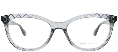 Bottega Veneta BV 0235O 001 Square Plastic Grey Eyeglasses with Demo Lens