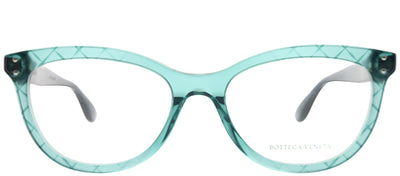 Bottega Veneta BV 0235O 003 Square Plastic Blue Eyeglasses with Demo Lens