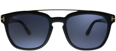 Tom Ford Holt TF 516 01A Black Square Plastic Black Sunglasses with Grey Lens