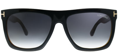 Tom Ford Morgan TF 513 05B Black Rectangle Plastic Black Sunglasses with Turquoise-To-Sand Gradient Lens