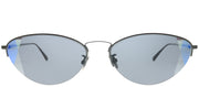 Bottega Veneta BV 0245S 001 Geometric Metal Grey Sunglasses with Grey Intrecciato Lens