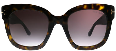 Tom Ford TF 613 52T Square Plastic Tortoise/ Havana Sunglasses with Rose Gradient Lens
