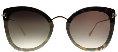 Tom Ford TF 657 52G Butterfly Metal Tortoise/ Havana Sunglasses with Brown Gradient Lens
