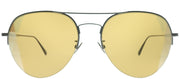 Bottega Veneta BV 0247S 006 Aviator Metal Grey Sunglasses with Yellow Intrecciato Lens