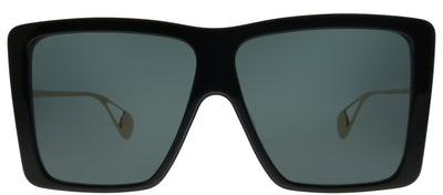Gucci GG 0434S 001 Square Plastic Black Sunglasses with Grey Lens
