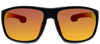 Carrera CA Carrera4006 003 BJ Rectangle Plastic Black Sunglasses with Black Brown Mirror Lens