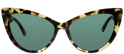 Kate Spade KS Karina 086 Cat-Eye Plastic Tortoise/ Havana Sunglasses with Green Lens