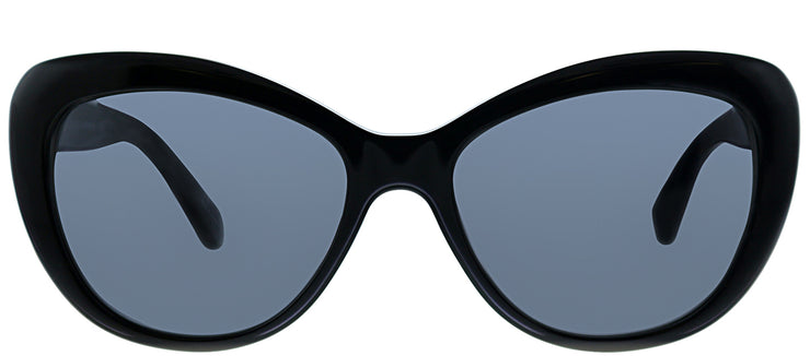 Kate Spade KS Emmalynn 807 Cat-eye Plastic Black Sunglasses with Grey Polarized Lens