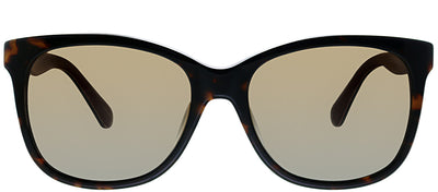 Kate Spade KS Danalyn 086 Square Plastic Tortoise/ Havana Sunglasses with Brown Gradient Lens