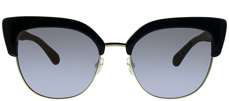 Kate Spade KS Karri UYY Square Metal Black Sunglasses with Silver Mirror Lens