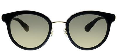 Kate Spade KS Lisanne/F 807 Oval Plastic Black Sunglasses with Ivory Mirror Lens