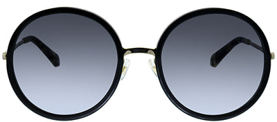 Kate Spade KS Lamonica 2M2 Round Plastic Black Sunglasses with Grey Gradient Lens