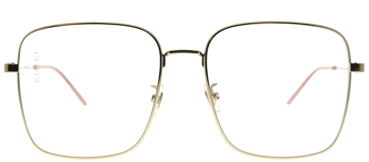 Gucci GG 0445O 001 Square Metal Gold Eyeglasses with Demo Lens