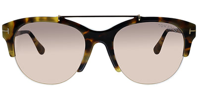 Tom Ford TF 517 56Z Cat-Eye Plastic Tortoise/ Havana Sunglasses with Pink Lens