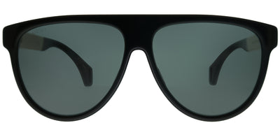 Gucci GG 0462S 002 Pilot Plastic Black Sunglasses with Yellow Lens
