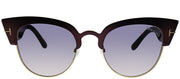 Tom Ford TF 607 74B Cat-Eye Metal Pink Sunglasses with Purple Gradient Lens