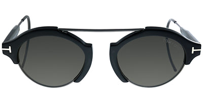 Tom Ford TF 631 01A Round Plastic Black Sunglasses with Grey Lens