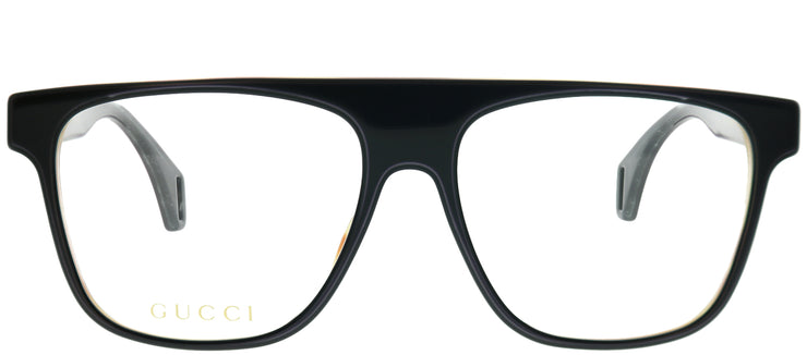 Gucci GG 0465O 002 Pilot Plastic Black Eyeglasses with Demo Lens