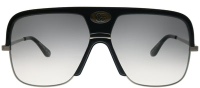 Gucci GG 0478S 001 Pilot Plastic Black Sunglasses with Grey Gradient Lens