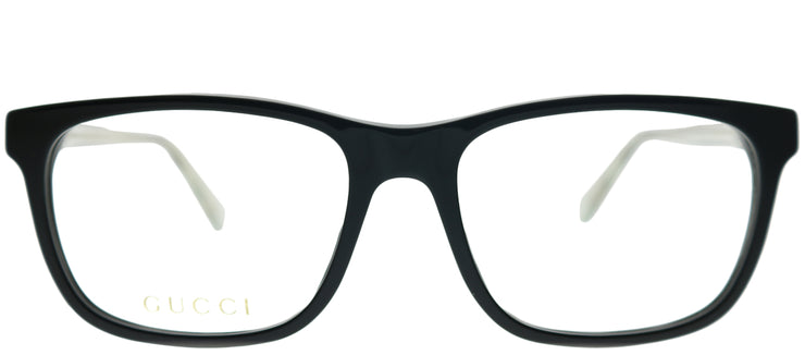 Gucci GG 0490O 005 Rectangle Plastic Black Eyeglasses with Demo Lens