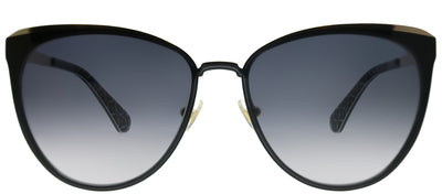 Kate Spade KS Jabrea 807 9O Cat-Eye Metal Black Sunglasses with Grey Gradient Lens