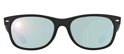 Ray-Ban RB 2132 622/30 Wayfarer Plastic Black Sunglasses with Silver Mirror Lens