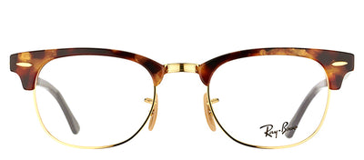 Ray-Ban RX 5154 5494 Clubmaster Plastic Tortoise/ Havana Eyeglasses with Demo Lens