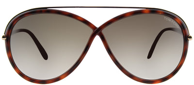 Tom Ford TF 454 52K Fashion Plastic Tortoise/ Havana Sunglasses with Brown Gradient Lens