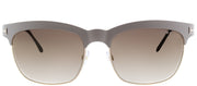 Tom Ford TF 437 25F Square Metal Ivory Sunglasses with Gold Mirror Lens