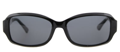 Guess GU 7410 01A Oval Plastic Black Sunglasses with Grey Lens