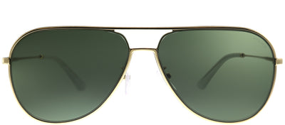 Police SPL 359 349 Aviator Metal Gold Sunglasses with Green Lens